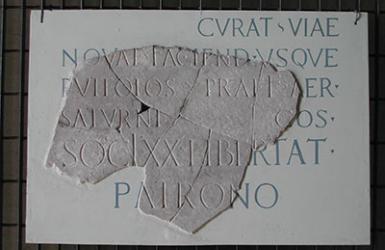 Epigrafe di Quintus Bittius Proculus